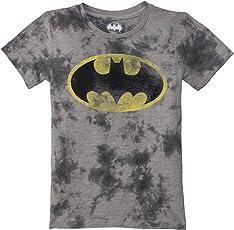 Batman Boys' Plain Regular Fit T-Shirt
