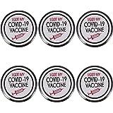 STOBOK 6Pcs Vaccino Button Pins Ottenuto Il Mio Covid- 19 Vaccino Pulsante Vaccinated Contro Covid Pin per I Medici Infermier