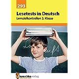 Lernzielkontrollen, tests und proben - t293 - lesetests in deutsch - lernzielkontrollen 3. klasse