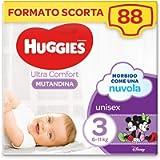 Huggies Ultra Comfort Pannolino Mutandina, Taglia 3/6-11 Kg, Confezione da 88 Pannolini, 44 x 2