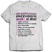 T-shirt addio al nubilato personalizzata con nome