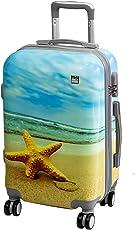 A2S Cabin gepäck ist leicht und langleib Hard shell Koffer mit 8 spiner räder tasche (Flugzeuge) Seestern 55x35x20 cm.