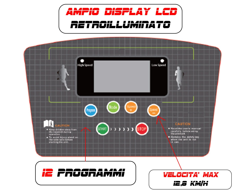 GO SPORT Tapis ROULANT Elettrico Pieghevole SALVASPAZIO Dispaly a LED 3,5 HP Picco - Ideale per Allenamento A CASA SENSORE Cardiaco 2 spesavip