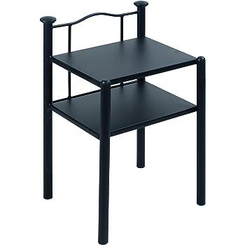 nachttisch olbia metall schwarz 38 x 45 x 68 cm k che haushalt. Black Bedroom Furniture Sets. Home Design Ideas