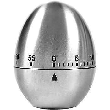 Timer Cucina ,Lemego Timer a Forma di Uovo per la Cucina,60 minuti