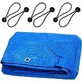 GIOVARA 2m x 3m Tarpaulin Multi-Purpose Waterproof, UV Resistant Ground Sheet Cover Made of 90g/Square Metre Tarpaulin