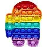 moonshop Push-Pop Pop Bubble Sensory Fidget Toy Autisme Besoins spéciaux Anti-Stress, De Liaison Squeeze Sensory Toy, pour Le