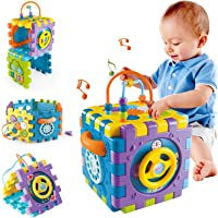 Kiddale 6 in 1 Multipurpose Activity Cube Toy for 2-4 Years Kids - Educational Musical Toy Early Development Learning…