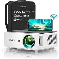 Vidéoprojecteur WiFi Bluetooth Full HD 1080P, YABER V6 8500 Lumens Projecteur WiFi Portable Soutiens 4K, Correction…