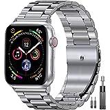 Mediatech Ersättningsrem kompatibel med Apple Watch-armband 44 mm 42 mm 40 mm 38 mm rostfritt stålmetall, utbytbart rem med f