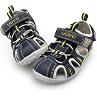 UOVO Boys Sandals Kids Sandals Trekking Hiking Sandals Closed Toe Athletic Summer Shoes for Beach Size 5.5 Toddler-5 Big…