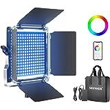 Neewer RGB Luce 530 LED SMD Controllo via APP, CRI 95, 3200-5600K, Luminosità 0% - 100%, 0-360 Colori Regolabili, 9 Condizion