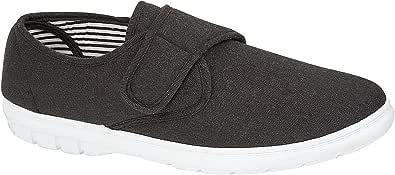 Scarpe da ginnastica da uomo Kevin, con attacco ampio, stile casual, in tela, scarpe da ginnastica, taglia 6-12