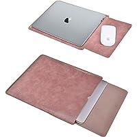 TECOOL Laptop Hülle 13,3 Zoll Tasche, Wasserdicht Kunstleder Schutzhülle Case für 2012-2020 MacBook Air/Pro 13, MacBook…