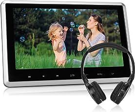 "NAVISKAUTO 10,1"" HD Kopfstütze Monitor DVD Player Auto TFT LCD Bildschirm FM 1080P 30Fps Video/ HDMI Funktion/ USB/ SD Schwarz+Silber Rahmen IR Köpfhörer CH1003S"