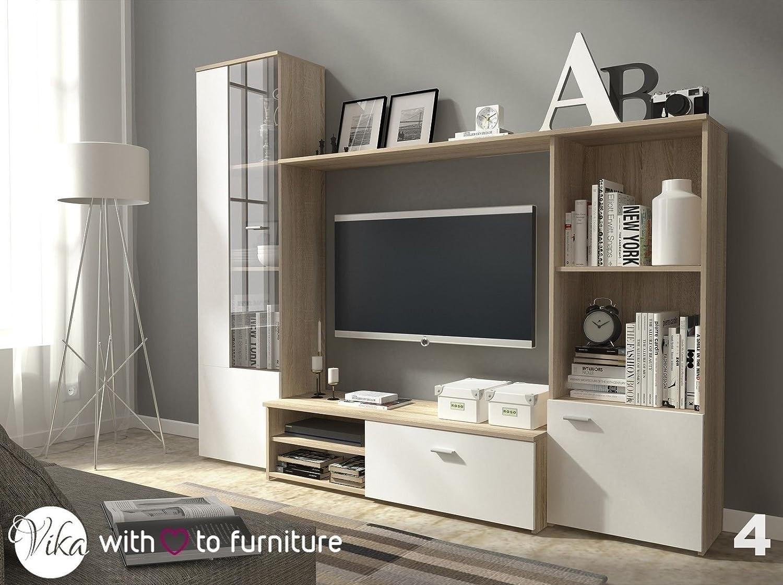 TV Unit HUGO . Wall Unit Living Room Furniture (Oak Sonoma + White):  Amazon.co.uk: Kitchen U0026 Home Part 90