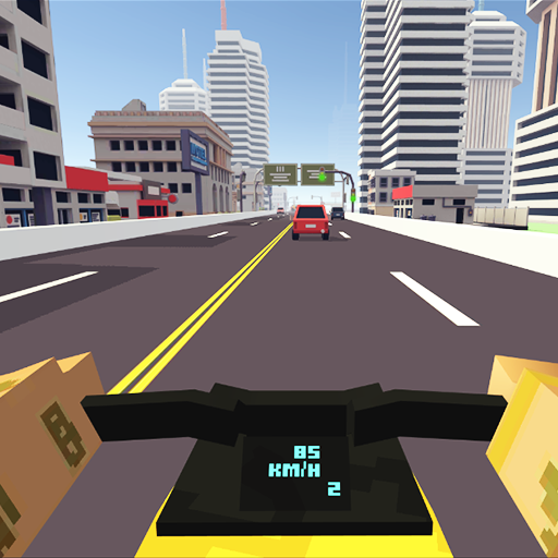 Blocky Moto Racing - Spielen Kostenlos Minecraft Spiele