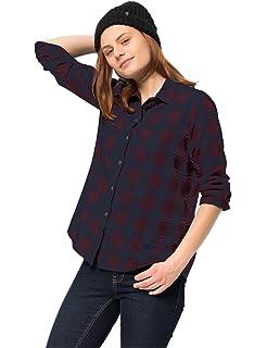 35a2fd5c46 Jack Wolfskin Damen Arendal Shirt Karobluse Freizeitbluse Bluse