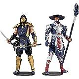 مجموعة متعددة من مجسمات شخصيات لعبة مورتال كومبات بمقاس 7 انش من مكفارلين تويز، شخصيات سكوربيون ورايدن