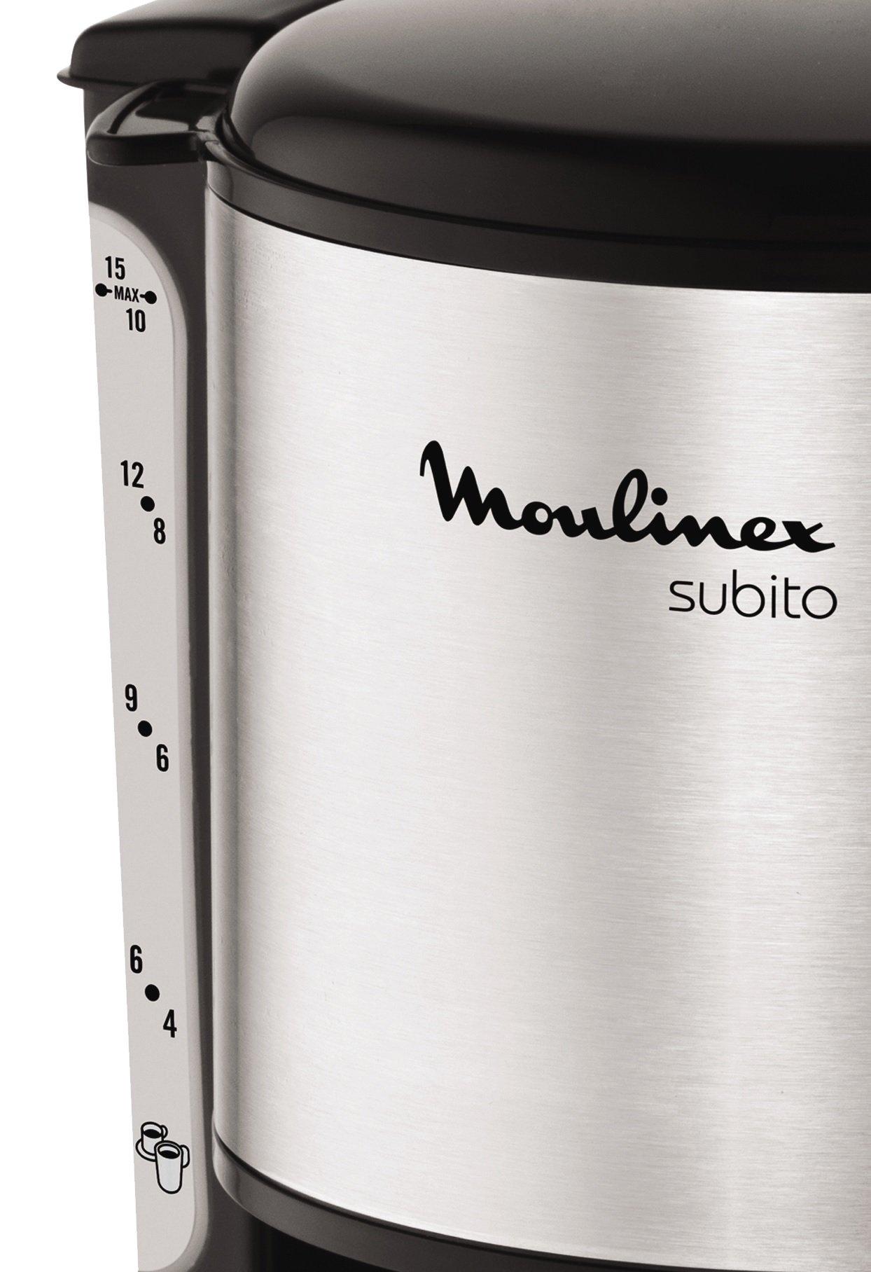 Moulinex-FG360811-Glas-Kaffeemaschine-Subito-edelstahl-Matt