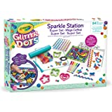 Crayola Glitter Dots - Sparkle Station Super Set, per Creare Scintillanti Decorazioni con il Glitter Modellabile, Attività Cr
