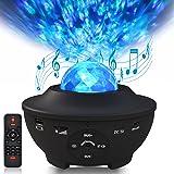 Sylvwin Projecteur Ciel Etoile,Veilleuse Etoile Lampe de Projecteur avec Haut-Parleur Musique,Telecommandees,Minuteur,Luminos