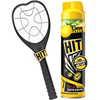 HIT Anti Mosquito Racquet - Rechargeable Insect Killer Bat with LED Light (6 Months Warranty) & Mosquito and Fly Killer…