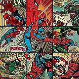 Marvel Comics Spider-Man Quadro su tela, 40 x 40 cm, motivo: impronte, colore: multicolore