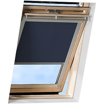 unbedingt Glasfl/äche innen ausmessen und vergleichen ! Roto 05//09 = 32x76cm, blau Exsun Roto Sonnenschutz Rollo Dachfenster Verdunkelung Hitzeschutz Thermofix