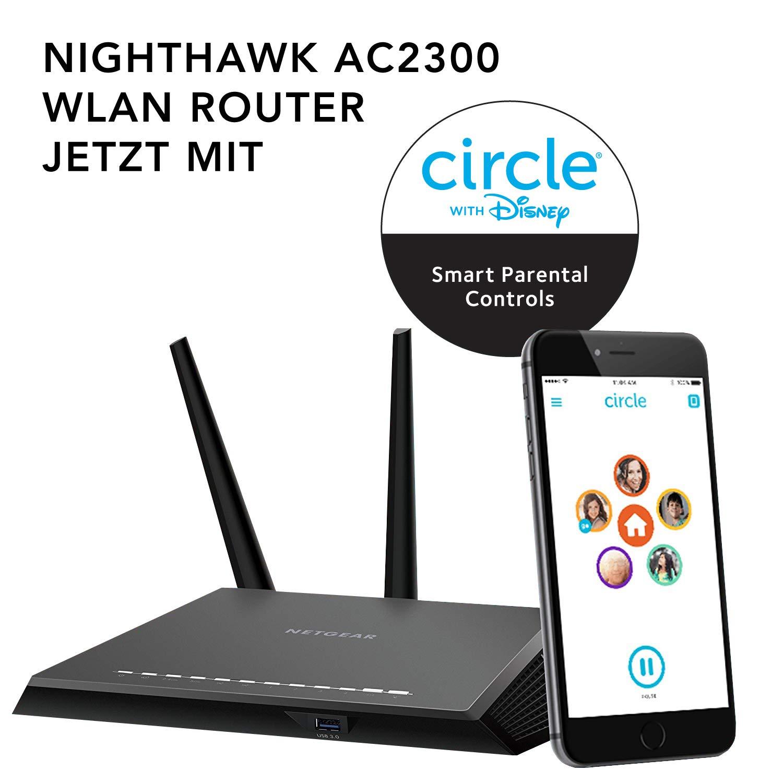 Netgear Router (Kompatibel mit Alexa,1 x USB 2.0, 1 x USB 3.0) Schwarz