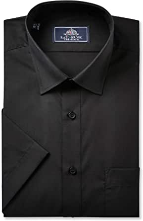 Rael Brook Mens Formal Short Sleeved Shirts, Multiple Colour Options