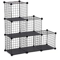 Makika Armoire de Rangement Cubes De Rangement Treillis Metallique Organisateur Display Étagère avec des Assiettes - 6…
