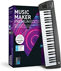 MAGIX Music Maker – 2018 Control Edition – USB-Keyboard und Musikprogramm Music Maker Premium Edition