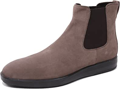Hogan B4873 Polacchino Uomo 193 Scarpa Stivaletto Marrone Shoe Boot Man