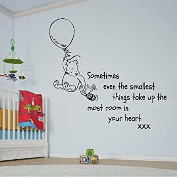 Winnie The Pooh Muursticker.Winnie The Pooh Sometimes The Smallest Things Quote Wall Art Vinyl