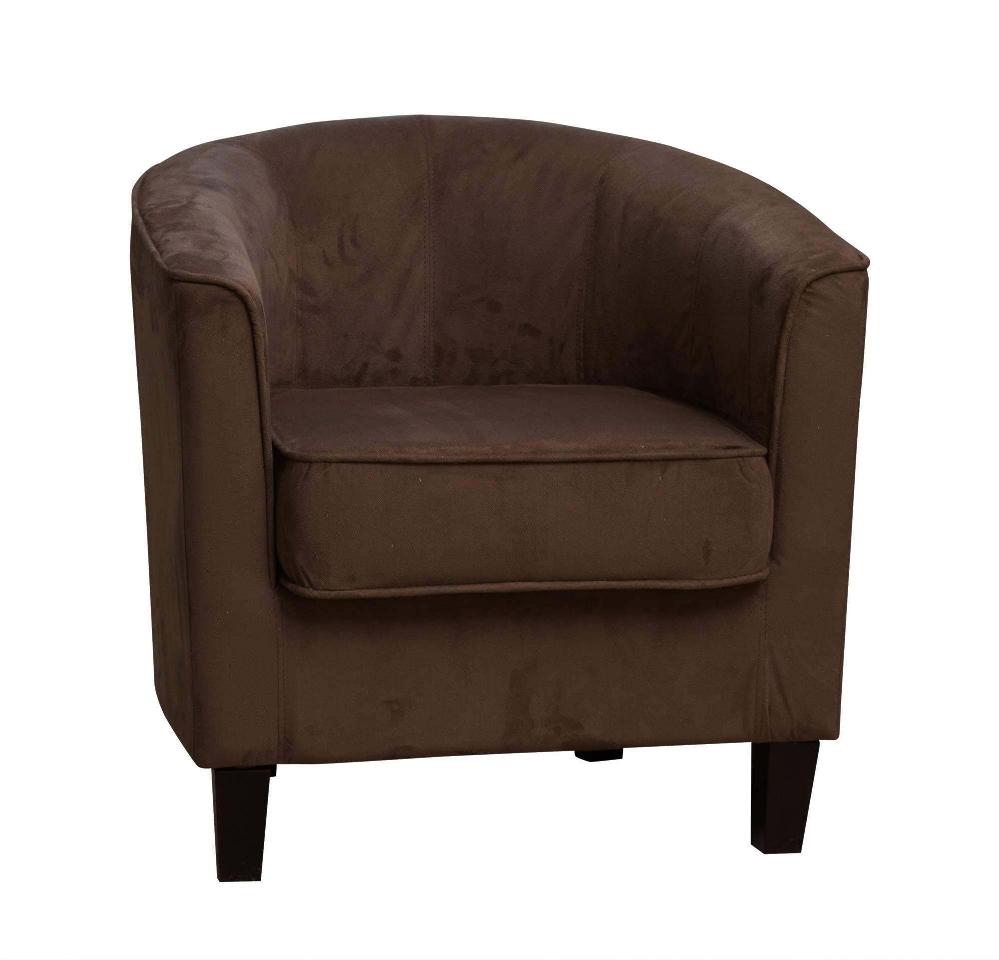 Sofa Collection Fabric Tub Chair/Armchair Seating (Cappuccino), Microfibre, 66x69x71 cm