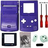 Timorn Sostituzione Case Cover Shell alloggiamento pieno per GBC Gameboy Color (Blau)