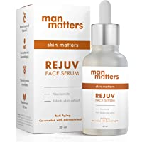Man Matters Glowing Face Serum for Men | Radiant Skin, Fights Acne, Acne Scars, Aging & Dark Spots | 10% Niacinamide & 2…
