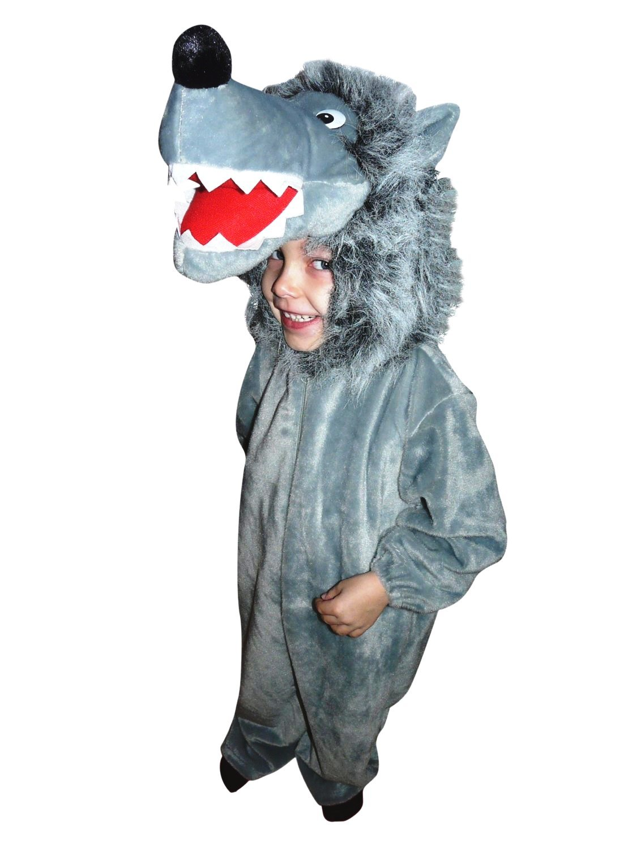 Wolf-Kostüm, F49 Gr. 116-122, für Kinder, Wolf-Kostüme Wölfe für Fasching Karneval, Kleinkinder-Karnevalskostüme, Kinder…
