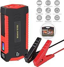 Baytter 18000mAh Tragbare Auto Starthilfe Batterie mit Starthilfekabel Auto Anlasser ((bis zu 6.0L Benzin Oder 3.0L Diesel Motoren), Starthilfe Power Pack 300A 600A mit LED-Beleuchtung