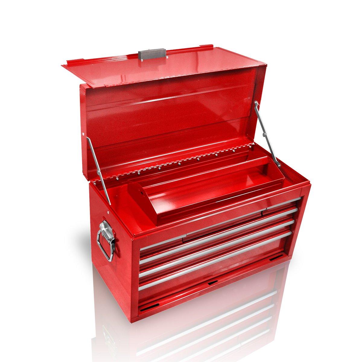 Holzinger Metall Werkzeugkoffer HWZK600-6, 6 Schubladen + 1 Fach, kugelgelagert