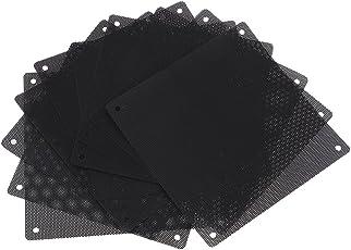 Baradu 10 Pack 140 mm PVC Black Computer Cooler Fan Dust Filter Case Cover - Dustproof Mesh