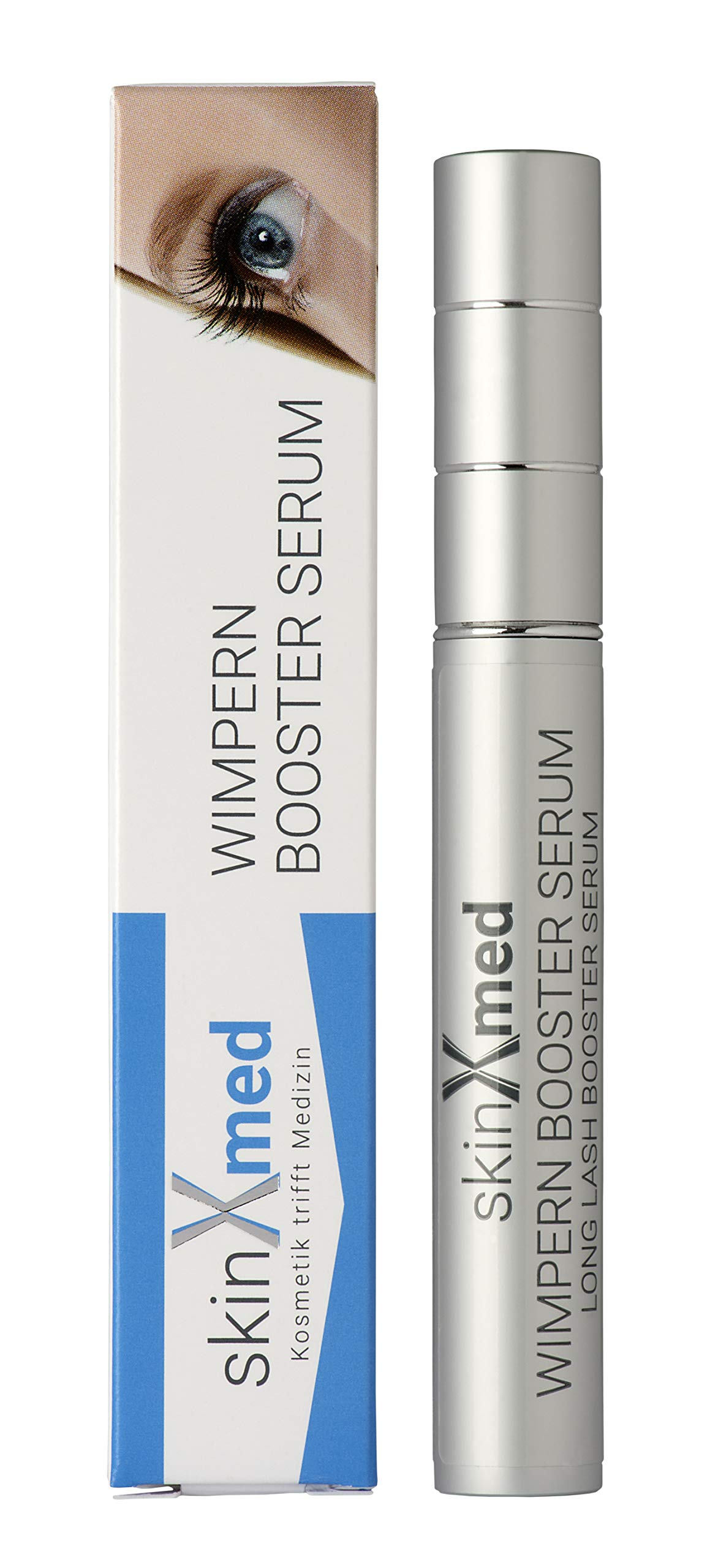 SkinXmed Sérum para pestañas y cejas | volumen, densidad | más largas, fuertes, resistentes | potenciador de crecimiento…