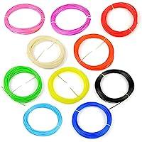 WOL 3D 10 in 1 Each 3D Pen Filament with Plastic Box (5 m) - 10 Pieces