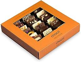 """chocri """"Weltreise"""" - 24 Schokoladen-Täfelchen in einer Geschenkbox - handbestreut mit Zutaten aus verschiedenen Regionen..."""