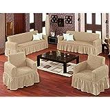 Hours Sofa Covers Set Turkey 4 Pieces Beige - 107770800020