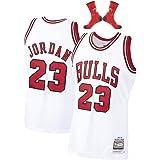 Camiseta de Baloncesto Michael Jordan Chicago Bulls 23# Men, Camiseta de Baloncesto Bordada sin Mangas Retro Unisex, Chaleco