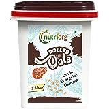 Nutriorg Gluten Free Rolled Oats 2.5 kg   High Fiber Protein Rich   Weight Management