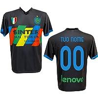 F.C. Inter Maglia Replica Calcio Third Nera Ufficiale Autorizzata Personalizzata Personalizzabile 2020 CALHANOGLU Correa…