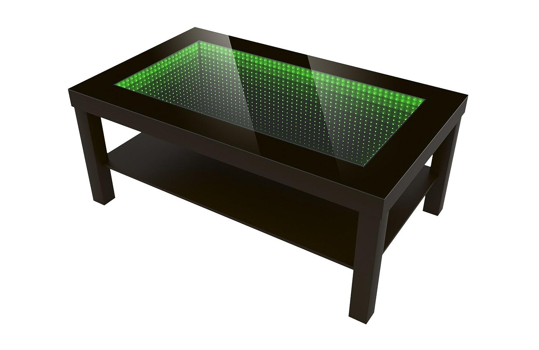 Modern Couchtisch Glastisch Beistelltisch Tiefeneffekt Tisch LED 3D 90x55 Wenge Amazonde Kche Haushalt